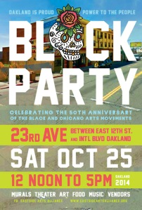 Oakland is Proud Block Party flyer from the Eastside Arts Alliance