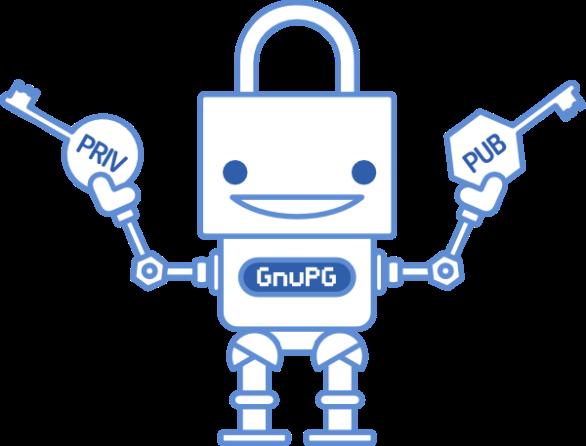 Cute GnuPG robot!